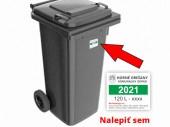 Nálepky na smetné nádoby 2021
