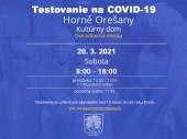 Testovanie na COVID-19 20.03.2021