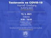 Testovanie na COVID-19 13.03.2021