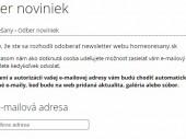 Odber noviniek webu na e-mail