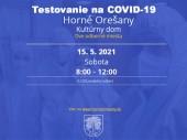 Testovanie na COVID-19 15.05.2021 v čase od 8:00 - 12:00