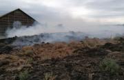 Požiar v areáli bývalého PD Horné Orešany, august 2020