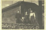 Pozorovateľňa s rádiostanicou nad H. Orešanmi na foto od Michala Kuglera, r. 1942
