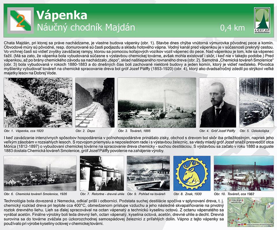 Obr. 4. Tabuľa 2 Vápenka vo finálnej podobe (aj na http://www.lesy.sk/showdoc.do?docid=6899).